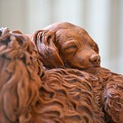 Two sleeping dogs, terracotta, 1782